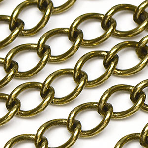 Antique Brass Medium Curb Chain sold by the foot