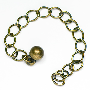 Antique Brass Chain Extension 3 in. (5/pkg)