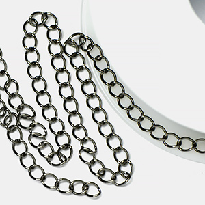 Gunmetal Plated Classic Curb Chain (25 ft spool)