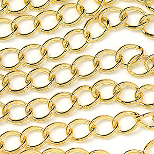 Luxury Gold Plated Classic 4x5mm Curb Chain Sold by the Foot