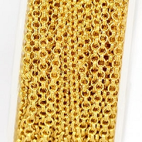 Luxury Gold-Plated Fine 1.5mm Double Cable Chain (per 25-foot spool)