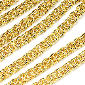 Luxury Gold Plated Modern Weave Chain Sold by the Foot