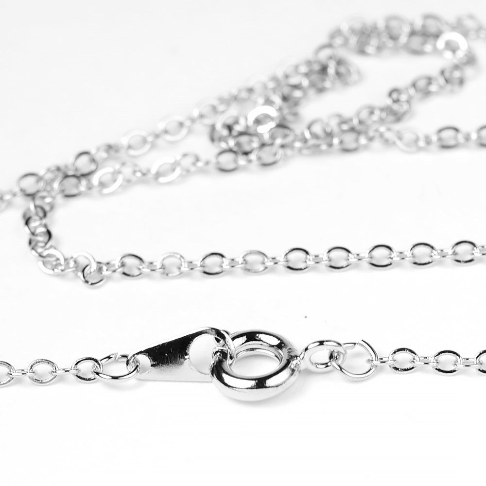 Pure Rhodium  Plated Finished Necklace