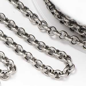 Antique Silver 3.5mm Rolo Chain (per 25-foot spool/hank)
