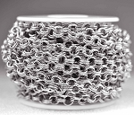 Antique Silver-Plated 7mm Semi-Textured Double Cable Chain (per 25-foot Hank)