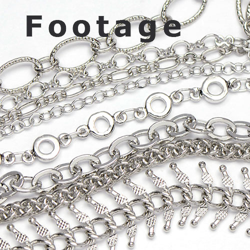Pure Rhodium Plated Chain footage