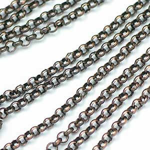 Antique Copper 2MM Rolo Chain DARK OX