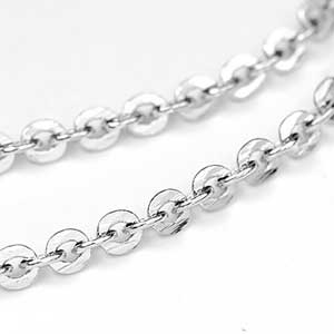 Luxury Rhodium Plate Mini Flash Chain by the Foot