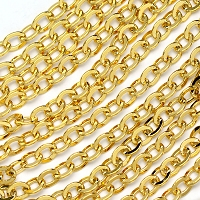 Luxury Gold-Plated 4x5mm Flat Oval Cable Chain by the spool/hank
