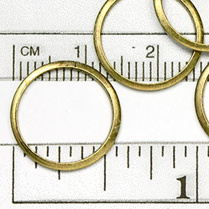 Antique Brass OX Plated 15MM Closed Jumpring (10/pkg)