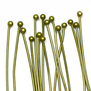 Antique Brass Ball End Headpin 2 in. (25/pkg)
