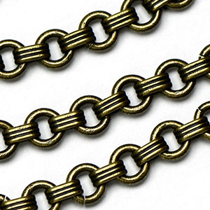 Antique Brass 5mm Venetian Chain sold by the foot