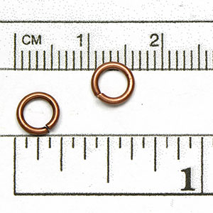 Antique Copper Plated Jump Ring: 18 gauge 6mm diameter open jump rings (50/pkg)