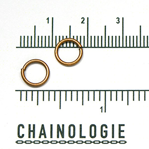 Antique Copper Plated Jump Ring: 8mm (50/pkg)