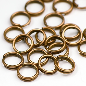 Antique Copper Plated 7mm Split Jump Ring (25/pkg)