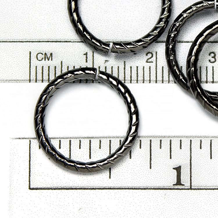 Gunmetal Black Plated 16MM Jumpring  (10/pkg)