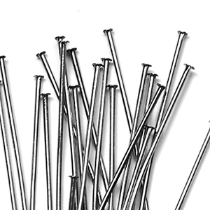 Gunmetal Black  Head Pin 3 in. (25/pkg)