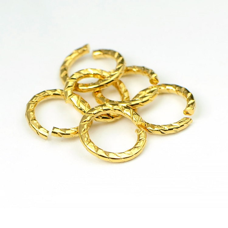 Luxury Gold Plated 8.5MM Jumpring (10/pkg)