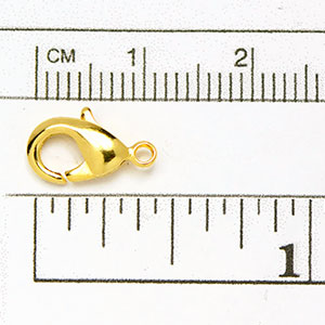 Luxury Gold Plated Clasp: MD Oval Trigger Clasp (5/pkg)