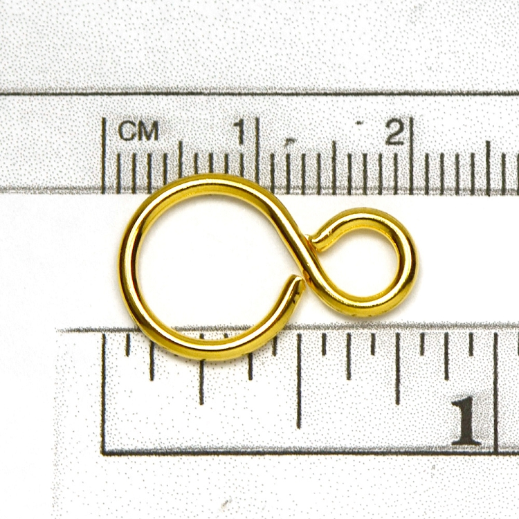 Luxury Gold Plate Figure 8 Ring 20 x 13mm (10/pkg)