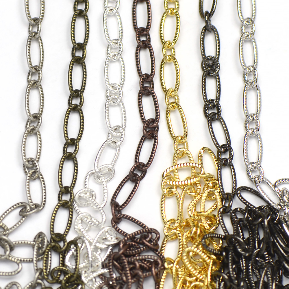 Chain 0049: 3x6.5mm Patterned Elongated Flat Cable Chain