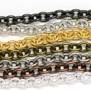 Chain 0023: Small 2.25x3mm Plain Cable Chain