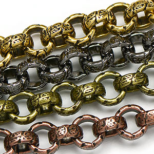 Chain 0074: 6.5mm Large Etched Rollo
