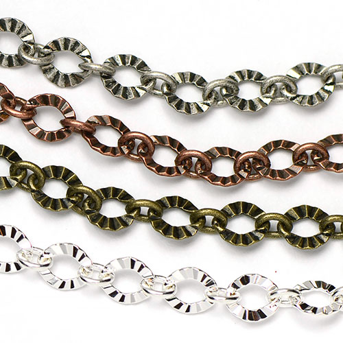 Chain 0086: 6x5.5mm Crinkle 1-to-1 Link