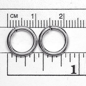 Luxury Rhodium Plated Jump Ring: 1.63 x 11.2 mm open jump rings (25/pkg)