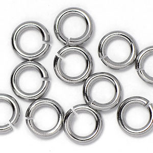 Stainless Steel Jump Rings: 18 gauge 5mm Open Jump Rings (50/pkg)