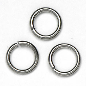Stainless Steel Jump Rings: 18 gauge 7mm Open jump rings (50/pkg)