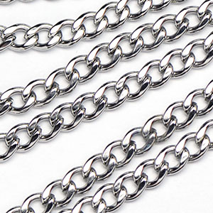 Stainless Steel 3x4mm Small Curb Chain sold by the foot