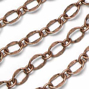 Antique Copper Plated Dapped 1 to 1 Chain