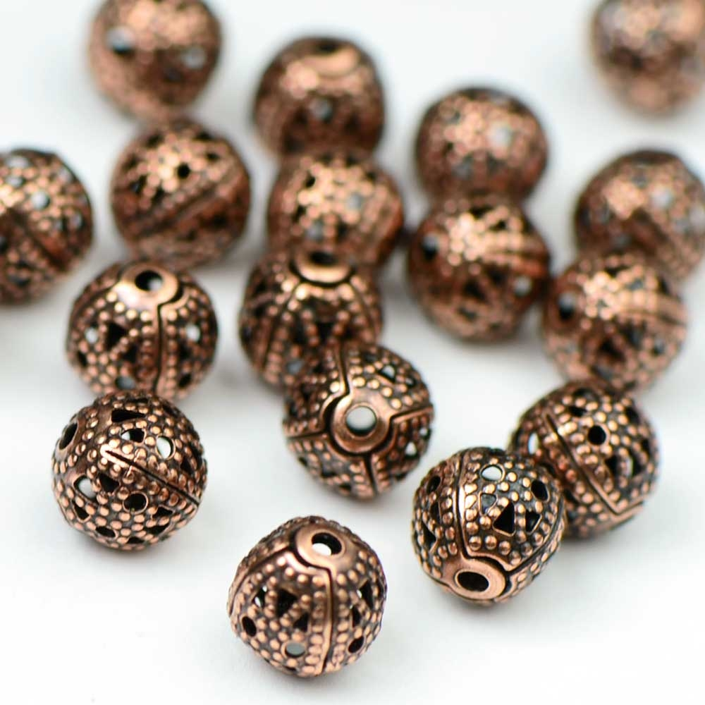 Antique Copper OX Premium Plated Filigree Bead (25/pkg)