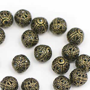 Antique Bead OX Premium Plated Filigree Bead (25/pkg)