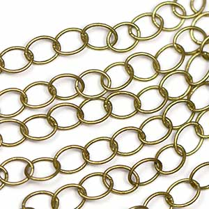 Antique Brass Classic 5x6mm Oval Cable Link Chain