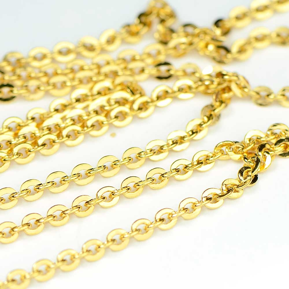 Gold Plated Mini Flash Chain by the Foot