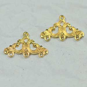 Luxury Gold Plated Filigree Finding (2/pkg)