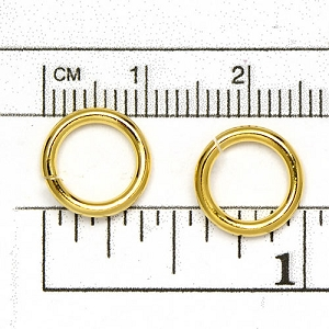 Luxury Gold Plated Jump Ring: 1.63 x 11.2 mm diameter open jump rings (25/pkg)