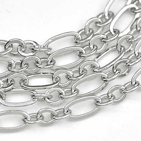 Luxury Rhodium Plated Small 2x4.5mm 3-and-1 Cable Chain sold by the foot
