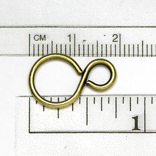 Sterling Silver Plate Figure 8 Ring 20 x 13mm (10/pkg)