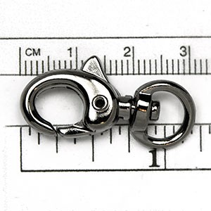 Gunmetal Plated Clasp: 31MM Super Swivel (each)