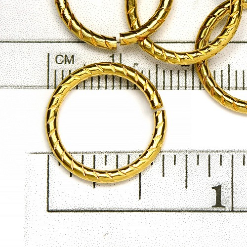 Luxury Gold Plated 16MM Jumpring (10/pkg)
