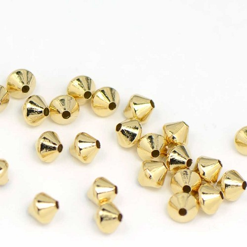 Luxury Gold Plated Diamond Bead (50/Pk)