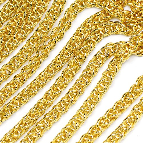 Luxury Gold Plated Modern Weave Chain sold by the foot at Chainologie.com